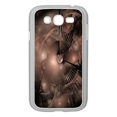 A Fractal Image In Shades Of Brown Samsung Galaxy Grand Duos I9082 Case (white) by Nexatart