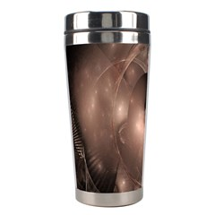 A Fractal Image In Shades Of Brown Stainless Steel Travel Tumblers