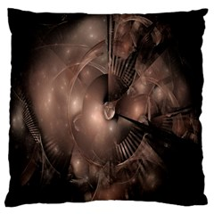 A Fractal Image In Shades Of Brown Large Flano Cushion Case (two Sides) by Nexatart