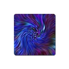 Stylish Twirl Square Magnet by Nexatart
