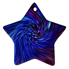 Stylish Twirl Star Ornament (two Sides)