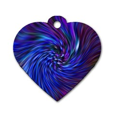 Stylish Twirl Dog Tag Heart (One Side)