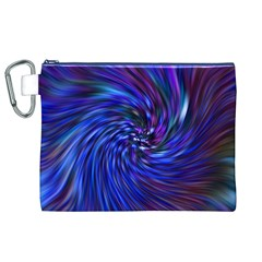 Stylish Twirl Canvas Cosmetic Bag (xl) by Nexatart