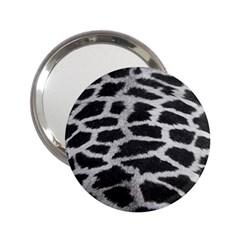 Black And White Giraffe Skin Pattern 2 25  Handbag Mirrors by Nexatart