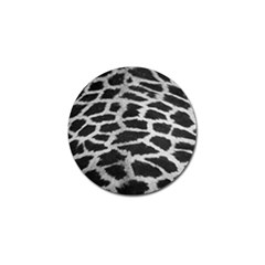 Black And White Giraffe Skin Pattern Golf Ball Marker by Nexatart