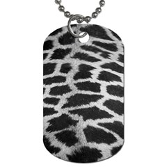 Black And White Giraffe Skin Pattern Dog Tag (two Sides)