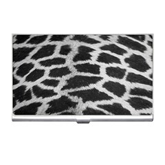 Black And White Giraffe Skin Pattern Business Card Holders by Nexatart
