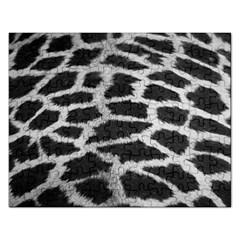 Black And White Giraffe Skin Pattern Rectangular Jigsaw Puzzl