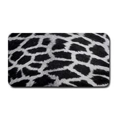 Black And White Giraffe Skin Pattern Medium Bar Mats
