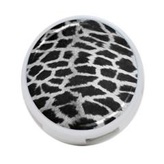Black And White Giraffe Skin Pattern 4-Port USB Hub (One Side) by Nexatart