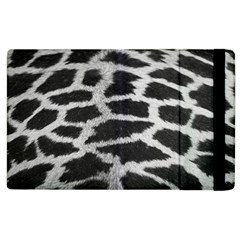 Black And White Giraffe Skin Pattern Apple Ipad 3/4 Flip Case