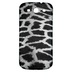 Black And White Giraffe Skin Pattern Samsung Galaxy S3 S Iii Classic Hardshell Back Case by Nexatart