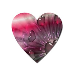 Love Hearth Background Wallpaper Heart Magnet by Nexatart