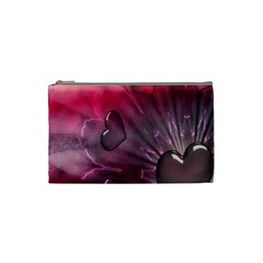 Love Hearth Background Wallpaper Cosmetic Bag (small)  by Nexatart