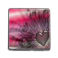 Love Hearth Background Wallpaper Memory Card Reader (square)