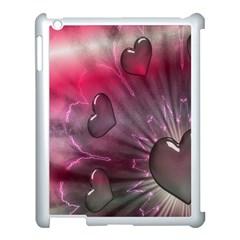 Love Hearth Background Wallpaper Apple Ipad 3/4 Case (white) by Nexatart