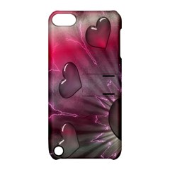 Love Hearth Background Wallpaper Apple Ipod Touch 5 Hardshell Case With Stand