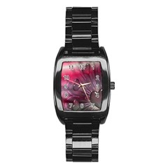 Love Hearth Background Wallpaper Stainless Steel Barrel Watch by Nexatart