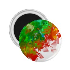 Digitally Painted Messy Paint Background Textur 2 25  Magnets