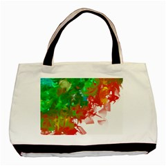 Digitally Painted Messy Paint Background Textur Basic Tote Bag