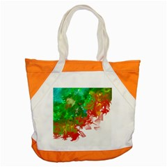 Digitally Painted Messy Paint Background Textur Accent Tote Bag by Nexatart