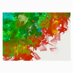 Digitally Painted Messy Paint Background Textur Large Glasses Cloth (2 Side)