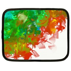 Digitally Painted Messy Paint Background Textur Netbook Case (large) by Nexatart