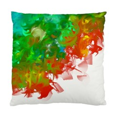 Digitally Painted Messy Paint Background Textur Standard Cushion Case (two Sides)