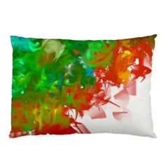 Digitally Painted Messy Paint Background Textur Pillow Case