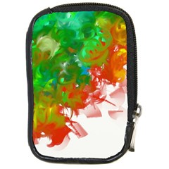 Digitally Painted Messy Paint Background Textur Compact Camera Cases by Nexatart