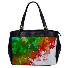 Digitally Painted Messy Paint Background Textur Office Handbags by Nexatart