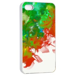 Digitally Painted Messy Paint Background Textur Apple Iphone 4/4s Seamless Case (white)