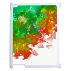 Digitally Painted Messy Paint Background Textur Apple Ipad 2 Case (white) by Nexatart