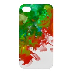 Digitally Painted Messy Paint Background Textur Apple Iphone 4/4s Premium Hardshell Case