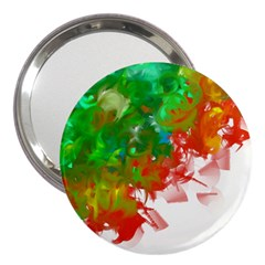 Digitally Painted Messy Paint Background Textur 3  Handbag Mirrors