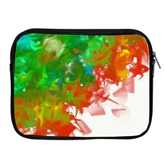Digitally Painted Messy Paint Background Textur Apple Ipad 2/3/4 Zipper Cases