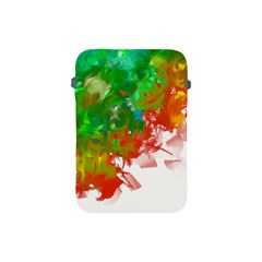 Digitally Painted Messy Paint Background Textur Apple Ipad Mini Protective Soft Cases by Nexatart