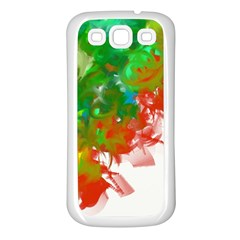 Digitally Painted Messy Paint Background Textur Samsung Galaxy S3 Back Case (white)