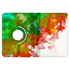 Digitally Painted Messy Paint Background Textur Kindle Fire HDX Flip 360 Case by Nexatart