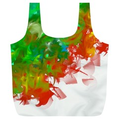 Digitally Painted Messy Paint Background Textur Full Print Recycle Bags (l)  by Nexatart
