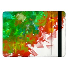 Digitally Painted Messy Paint Background Textur Samsung Galaxy Tab Pro 12 2  Flip Case by Nexatart