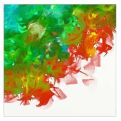 Digitally Painted Messy Paint Background Textur Large Satin Scarf (square)
