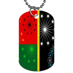 Snowflake Background Digitally Created Pattern Dog Tag (two Sides) by Nexatart
