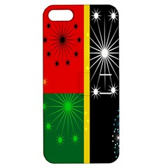 Snowflake Background Digitally Created Pattern Apple Iphone 5 Hardshell Case With Stand by Nexatart
