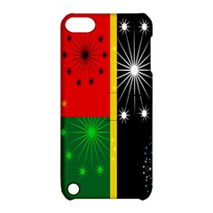 Snowflake Background Digitally Created Pattern Apple Ipod Touch 5 Hardshell Case With Stand by Nexatart