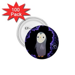 Fractal Image With Penguin Drawing 1 75  Buttons (100 Pack)