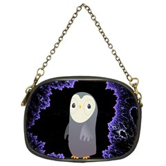 Fractal Image With Penguin Drawing Chain Purses (two Sides)  by Nexatart