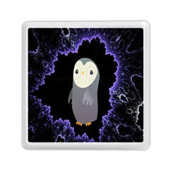 Fractal Image With Penguin Drawing Memory Card Reader (square)  by Nexatart