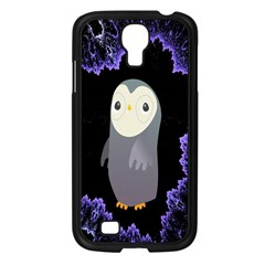 Fractal Image With Penguin Drawing Samsung Galaxy S4 I9500/ I9505 Case (black) by Nexatart