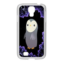 Fractal Image With Penguin Drawing Samsung Galaxy S4 I9500/ I9505 Case (white)